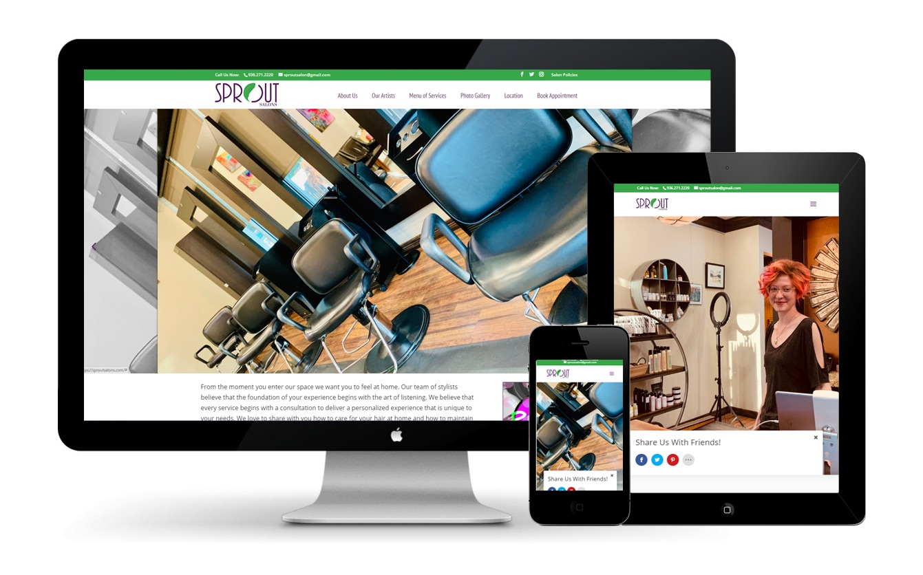 Sprout Salons Website Design